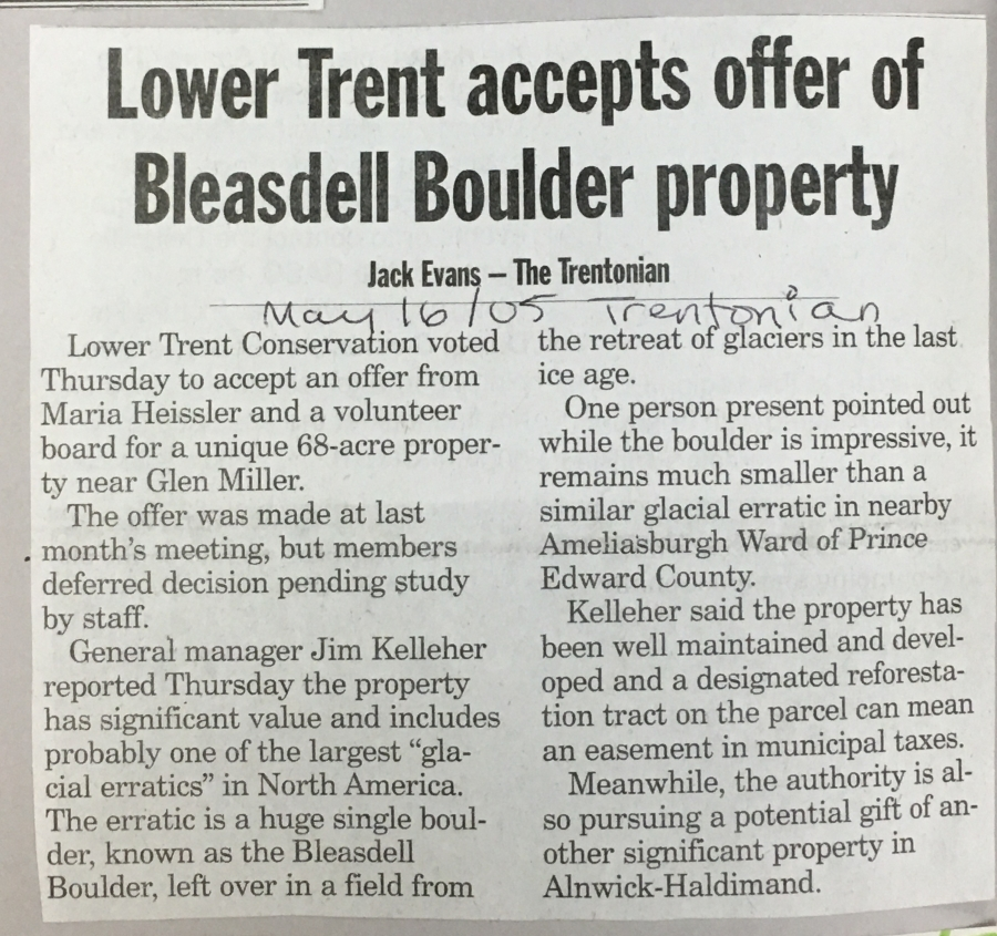 LowerTrent accepts offer of Bleasdell Boulder property_2005